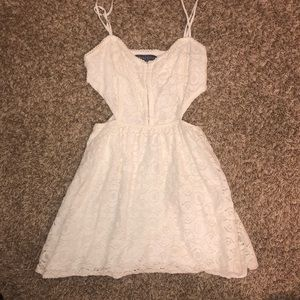 Petite white Kendall & Kylie dress